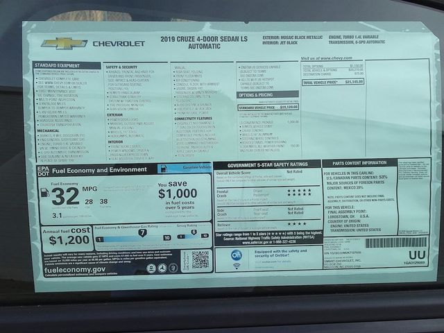 2019 Chevrolet Cruze LS Madison, NC 43