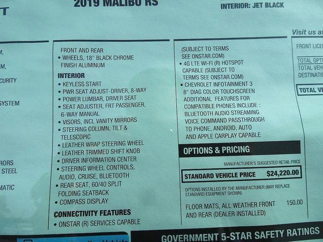 2019 Chevrolet Malibu RS Madison, NC 46