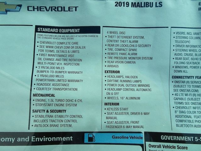2019 Chevrolet Malibu LS Madison, NC 45