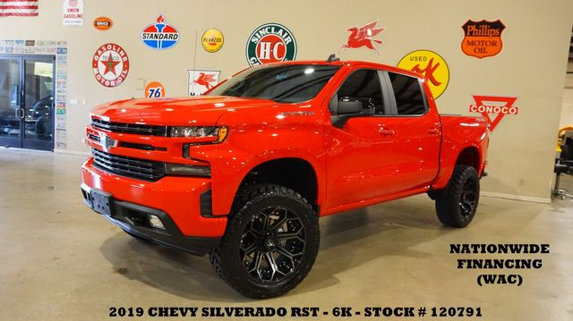 2019 Chevrolet Silverado 1500 RST 4X4 LIFTED,BACK-UP CAM,HTD LTH,22'S,6K