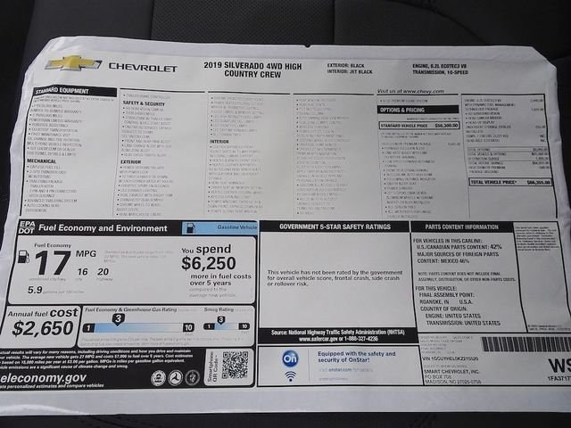2019 Chevrolet Silverado 1500 High Country Madison, NC 56