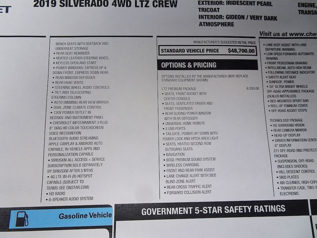 2019 Chevrolet Silverado 1500 LTZ Madison, NC 58