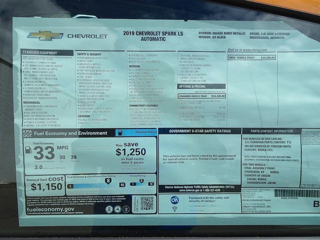 2019 Chevrolet Spark LS Madison, NC 39