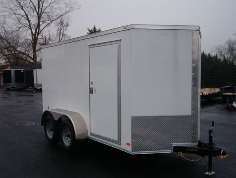 2019 Covered Wagon Enclosed 6x12 Tandem Barn Doors  in Madison