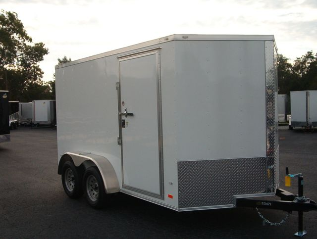 """2020 Covered Wagon Enclosed 7X12 Trailer 6' 6"""" Interior Height"""