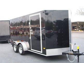 2019 Covered Wagon Enclosed 7x14  6 6 Interior Height Barn Doors   city Georgia  Youngblood Motor Company Inc  in Madison, Georgia