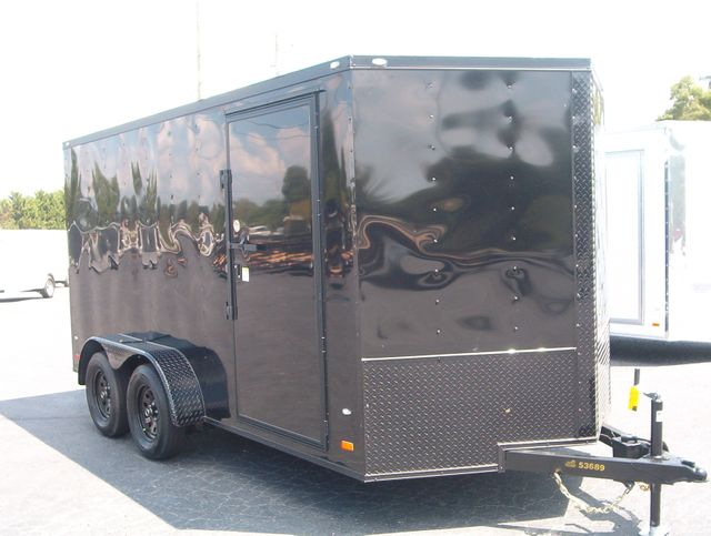 """2020 Covered Wagon Enclosed 7x14 6'6"""" Interior Height"""