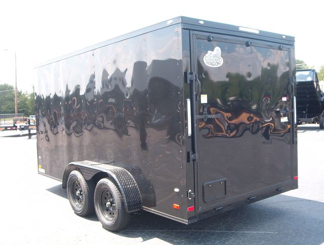 """2020 Covered Wagon Enclosed 7x14 6'6"""" Interior Height in Madison, Georgia 30650"""