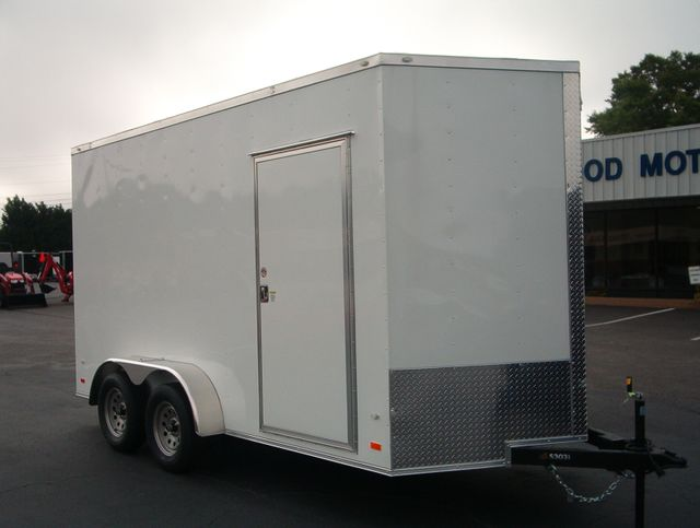 """2019 Covered Wagon Enclosed 7x14 7' 6"""" Trailer"""