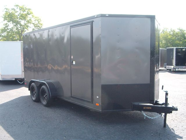 "2019 Covered Wagon Enclosed 7x16 6'6"" Blackout"