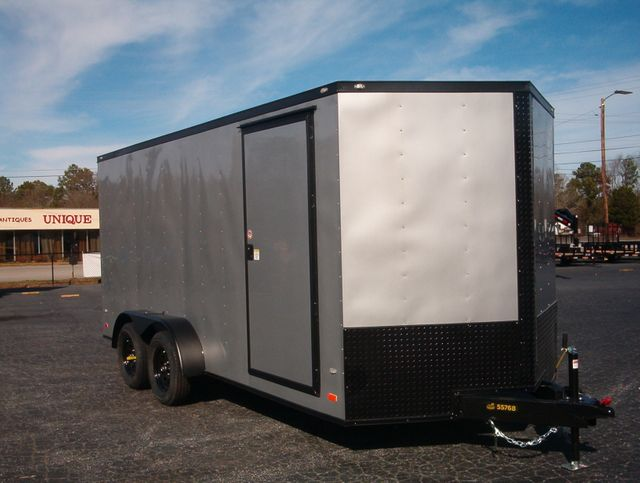 "2020 Covered Wagon Enclosed 7x16 6'6"" Blackout"