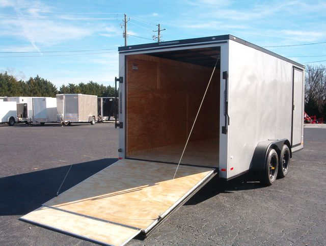 """2020 Covered Wagon Enclosed 7x16 6'6"""" Blackout in Madison, Georgia 30650"""