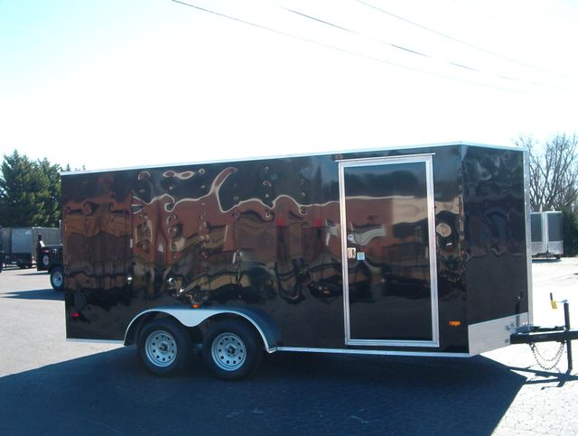 """2020 Covered Wagon Enclosed 7x16 6'6"""" Interior Height in Madison, Georgia 30650"""