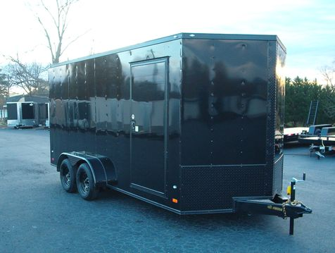 2019 Covered Wagon Enclosed 7x16 7Ft Blackout  in Madison