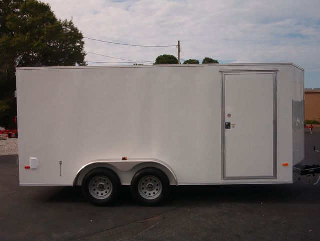 "2019 Covered Wagon Enclosed 7x16 Barn Doors 6'6"" Interior Height in Madison, Georgia 30650"