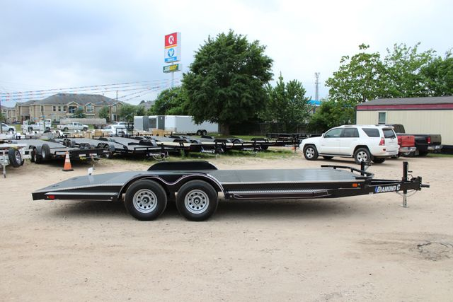 2019 Diamond C 12CHS 22' CHS Deluxe Steel Floor Open Car Trailer CONROE, TX 19