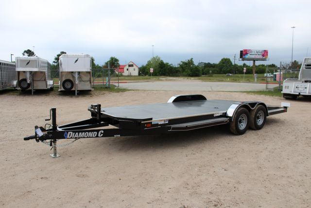 2019 Diamond C 12CHS 22' CHS Deluxe Steel Floor Open Car Trailer CONROE, TX 8