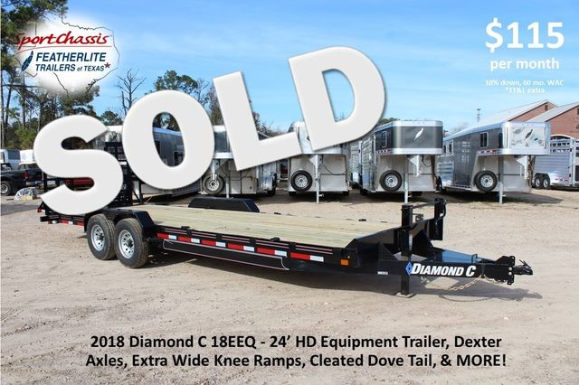 2019 Diamond C 18EEQ 24 X 82 EXTREME FLATBET EQUIPMENT TRAILER CONROE, TX