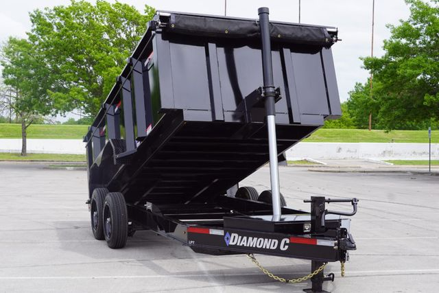2021 Diamond C 14' x 82'' Low Profile Telescopic Dump Trailer