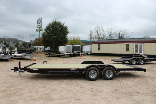 2019 Diamond C GTF 22' GENERAL DUTY  FLATBED WOOD DECK CAR TRAILER CONROE, TX 10