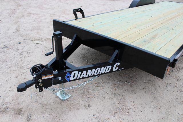 2019 Diamond C GTF 22' GENERAL DUTY  FLATBED WOOD DECK CAR TRAILER CONROE, TX 5