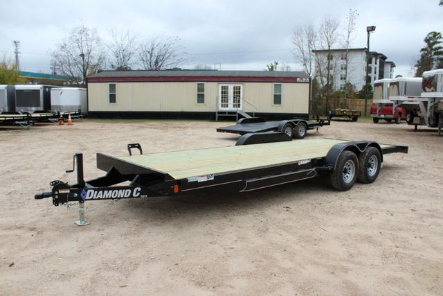 2019 Diamond C GTF 22' GENERAL DUTY  FLATBED WOOD DECK CAR TRAILER CONROE, TX 9