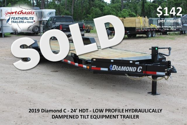 2019 Diamond C HDT - 24 Hydraulic Tilt Equipment Trailer CONROE, TX