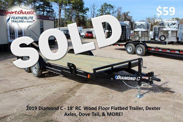 2019 Diamond C RC - 18 CAR HAULER WOOD FLOOR CONROE, TX 0