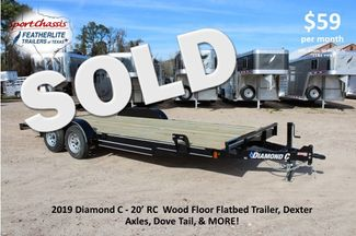 2019 Diamond C RC - 20 Ranger Wood Floor Car Hauler CONROE, TX