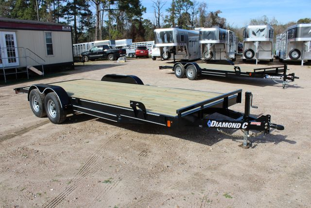 2019 Diamond C RC 20' WOOD DECK CAR TRAILER CONROE, TX 21