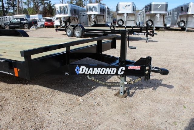 2019 Diamond C RC 20' WOOD DECK CAR TRAILER CONROE, TX 3