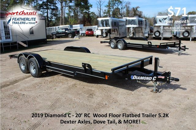 2019 Diamond C RC 20' WOOD DECK CAR TRAILER CONROE, TX 0