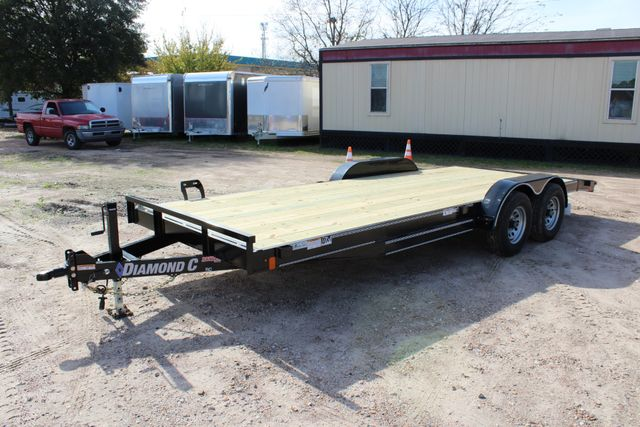 2019 Diamond C RC 20' WOOD DECK CAR TRAILER CONROE, TX 10