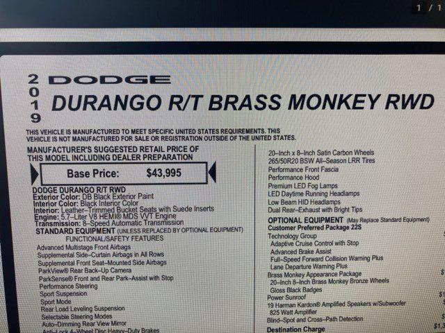 2019 Dodge Durango R/T Brass Monkey Pkg in Boerne, Texas 78006