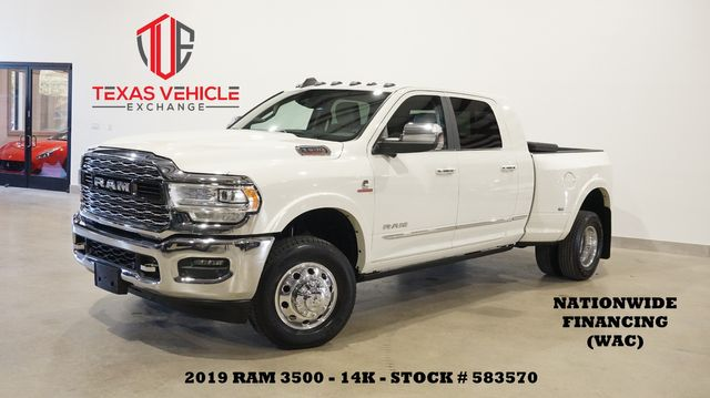 2019 Dodge RAM 3500 Limited DRW 4X4 MSRP 86K,ROOF,NAV,360 CAM,14K