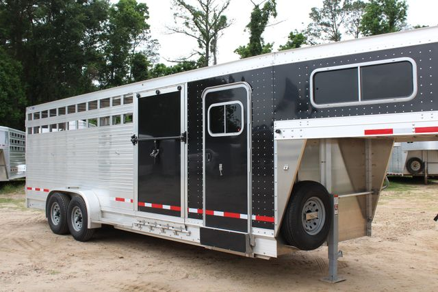 2019 Eby MAVERICK 24' STOCK/ COMBO Goose Neck with Front Tack & side CONROE, TX 1