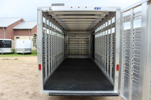 2019 Eby MAVERICK 24' STOCK/ COMBO Goose Neck with Front Tack & side CONROE, TX 14