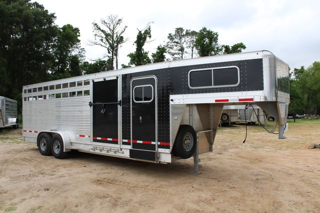 2019 Eby MAVERICK 24' STOCK/ COMBO Goose Neck with Front Tack & side CONROE, TX 37