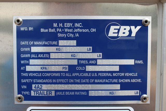 2019 Eby MAVERICK 24' STOCK/ COMBO Goose Neck with Front Tack & side CONROE, TX 38