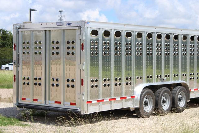 2019 Eby RUFF NECK 32 32' LIVESTOCK PUNCH SIDE TRIP 8K 3 CUT GATES CONROE, TX 24
