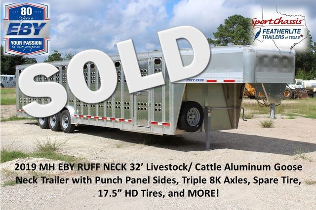 2019 Eby RUFF NECK 32 32' LIVESTOCK PUNCH SIDE TRIP 8K 3 CUT GATES CONROE, TX