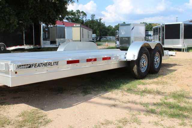 2019 Featherlite 3110 - 20' Flat bed 20' Skid loader OPEN BP CAR TRAILER CONROE, TX 6