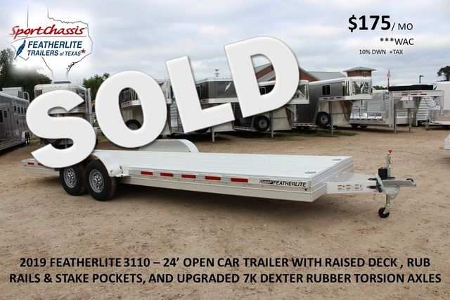 2019 Featherlite 3110 - 24 24' OPEN CAR HAULER RAISED DECK 7K DEXTER AXLES CONROE, TX