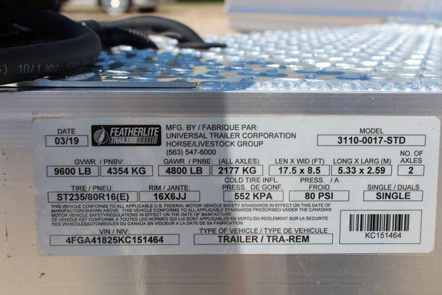 2019 Featherlite 3110 17' OPEN CAR TRAILER W/ 4.8K AXLES & RUB RAILS CONROE, TX 17