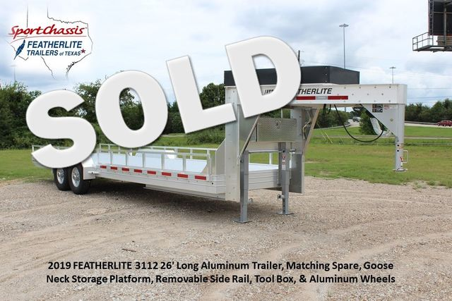2019 Featherlite 3112 - 26' OPEN CAR TRAILER CONROE, TX