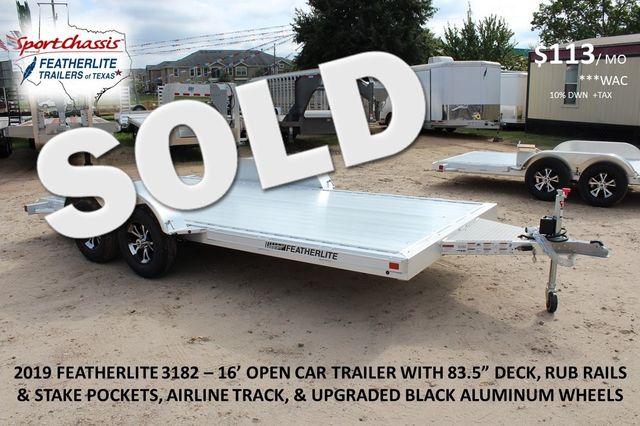 "2019 Featherlite 3182 - 16 16' OPEN CAR HAULER 83.5"" WIDE DECK ALUMINUM WHLS CONROE, TX"