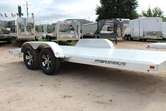 "2019 Featherlite 3182 - 16 16' OPEN CAR HAULER 83.5"" WIDE DECK ALUMINUM WHLS CONROE, TX 1"