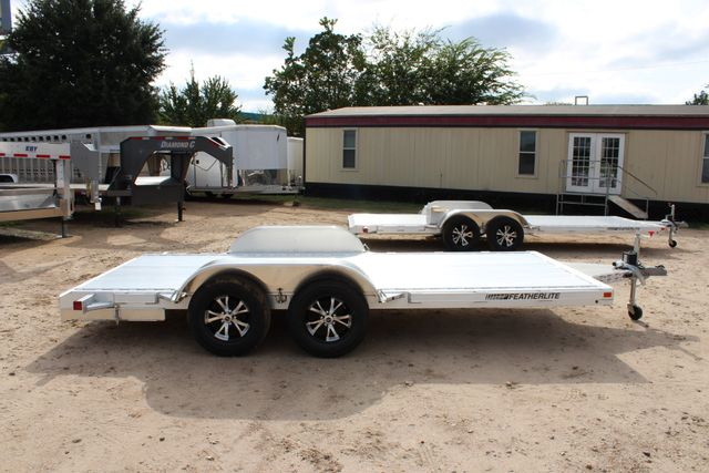 "2019 Featherlite 3182 - 16 16' OPEN CAR HAULER 83.5"" WIDE DECK ALUMINUM WHLS CONROE, TX 16"