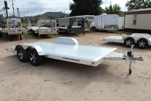 "2019 Featherlite 3182 - 16 16' OPEN CAR HAULER 83.5"" WIDE DECK ALUMINUM WHLS CONROE, TX 17"