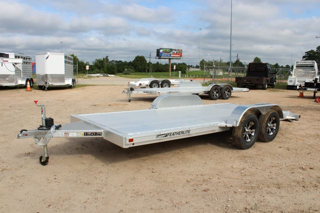 "2019 Featherlite 3182 - 16 16' OPEN CAR HAULER 83.5"" WIDE DECK ALUMINUM WHLS CONROE, TX 7"